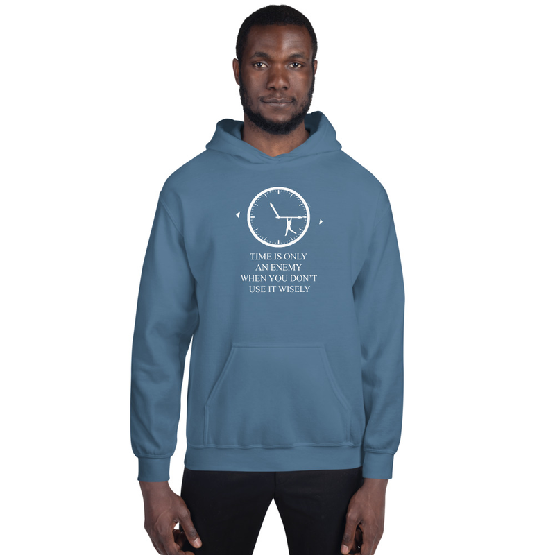 Men's Indigo Blue Time Heavy Blend Hooded Sweatshirt (Non-Inmate)