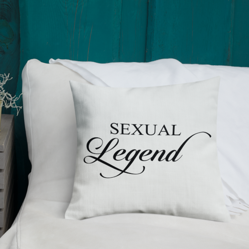 Cell Block Legendz Premium Sexual Legend Throw Pillow 18x18