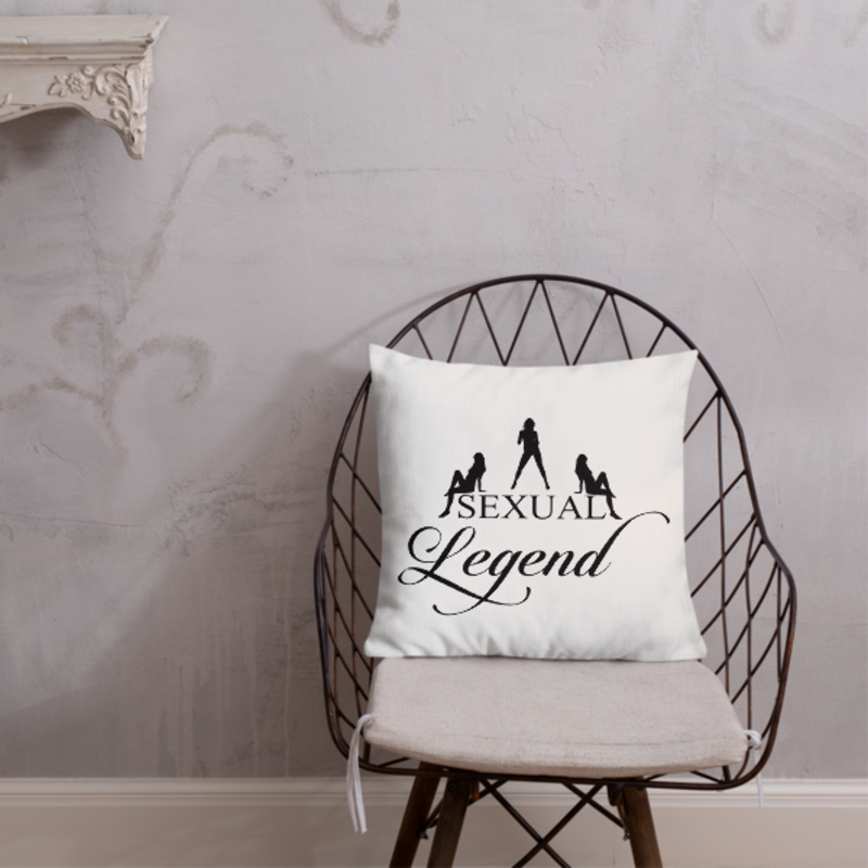 Cell Block Legendz Premium Sexual Legend With Silhouettes Throw Pillow 18x18