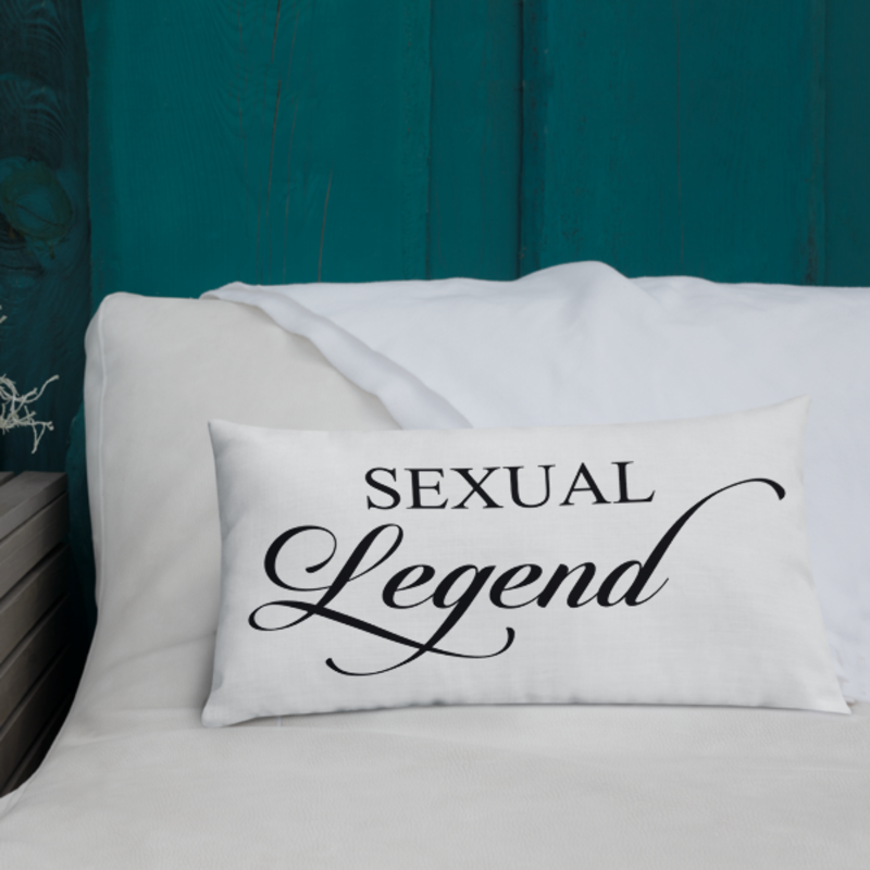 Cell Block Legendz Premium Sexual Legend Throw Pillow 20x12