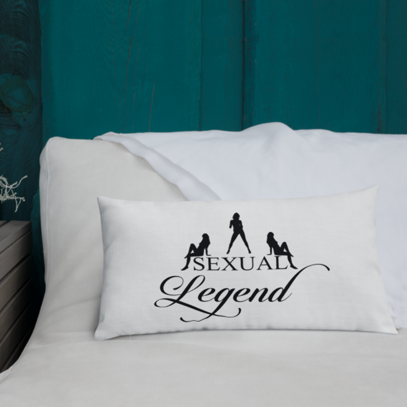 Cell Block Legendz Premium Sexual Legend With Silhouettes Throw Pillow 20x12