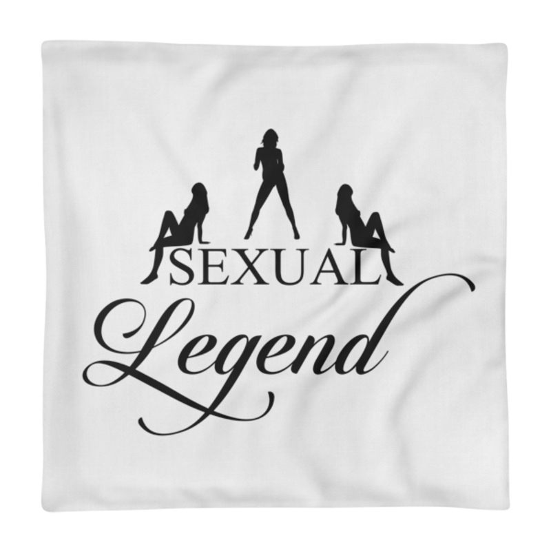 Cell Block Legendz Premium Sexual Legend With Silhouettes Single Pillow Case 18X18