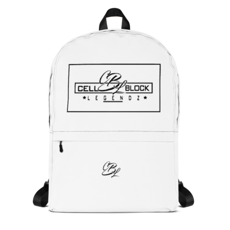 Cell Block Legendz Logo In A Square Backpack