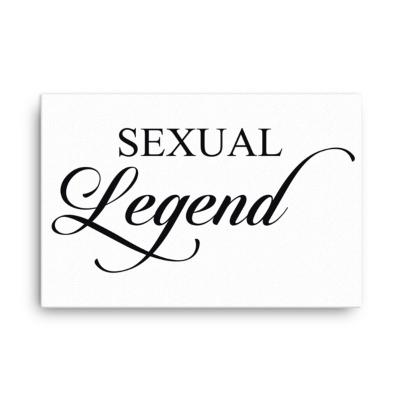 Cell Block Legendz Horizontal 24x36 Sexual Legend Canvas Wall Decor