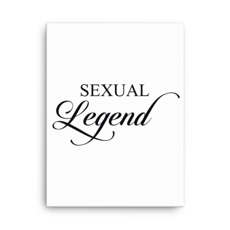 Cell Block Legendz Vertical 18x24 Sexual Legend Canvas Wall Decor
