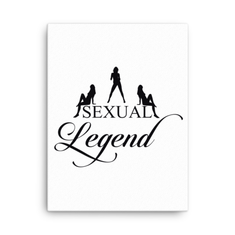 Cell Block Legendz Vertical 18x24 Sexual Legend With Silhouettes Canvas Wall Decor