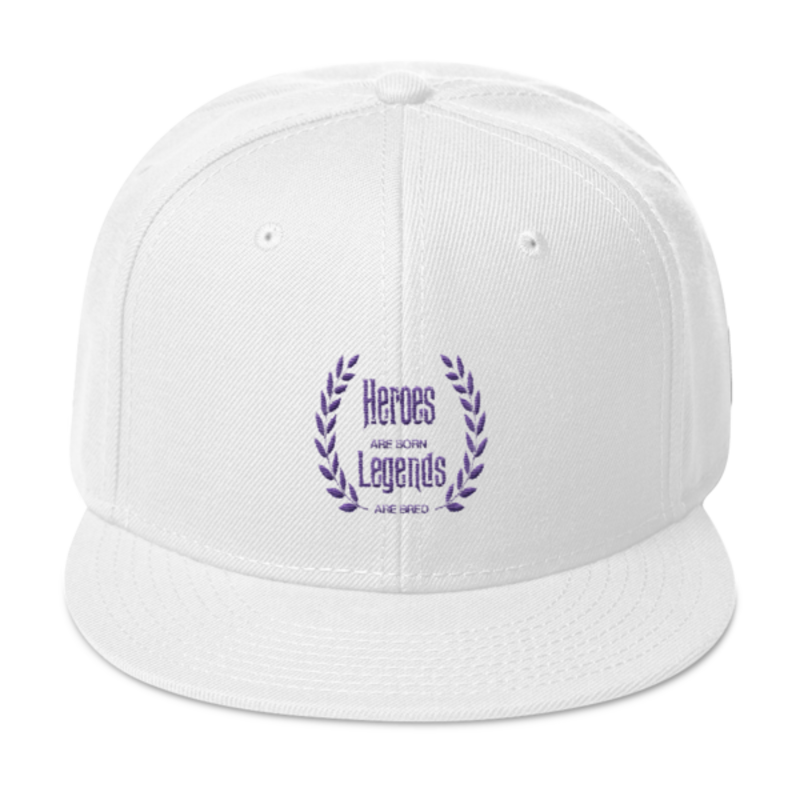 SnapbCell Block Legendz Hero Purple & White Snapback (Non-Inmate)