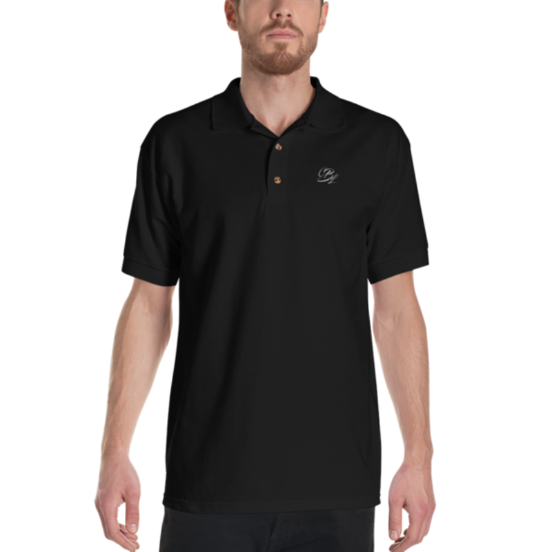 Men's Black Cell Block Legendz Polo Shirt With White Embroidered CBL Logo (Non-Inmate)