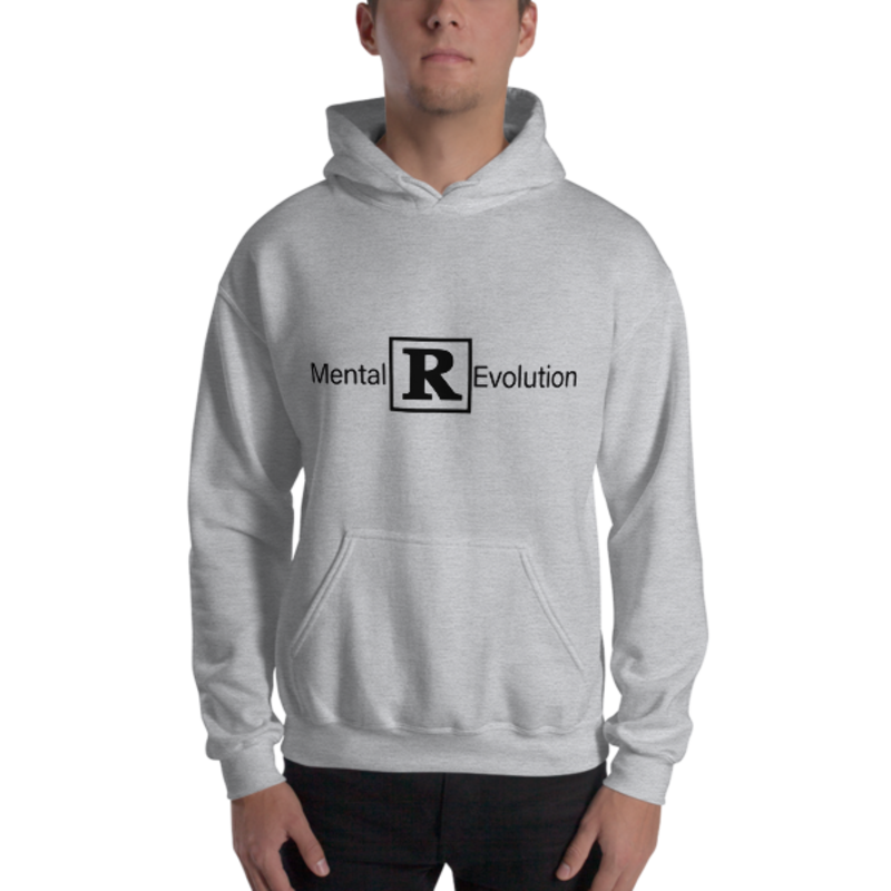 Men's Sport Grey Mental [R] Evolution Heavy Blend Hooded Sweatshirt (Non-Inmate)