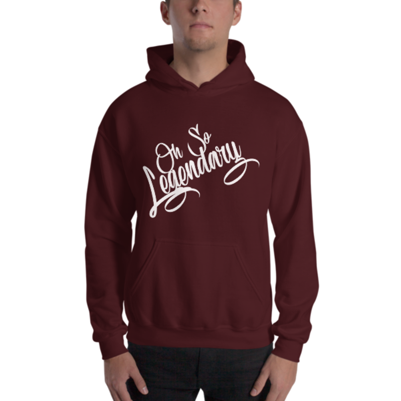 Men's Maroon Oh So Legendary Heavy Blend Hooded Sweatshirt (Non-Inmate)