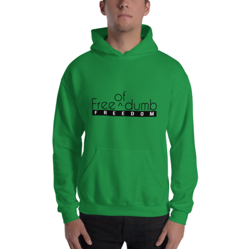 Men's Irish Green Free (Of) Dumb - Freedom Heavy Blend Hooded Sweatshirt (Non-Inmate)
