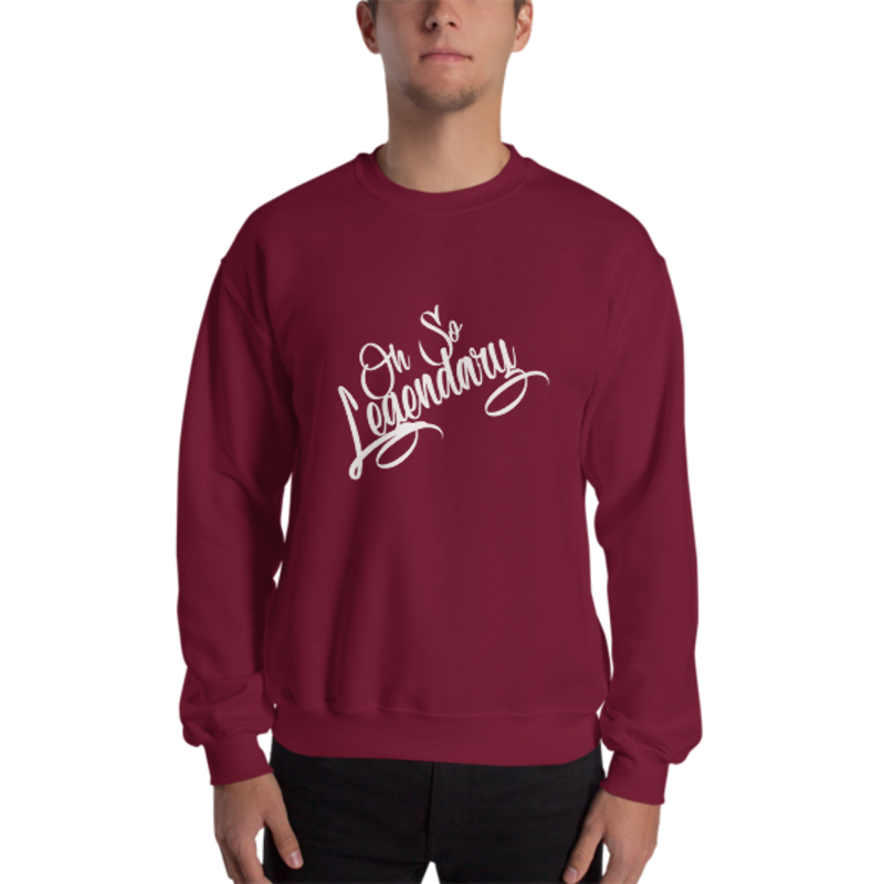 Men's Maroon Oh So Legendary Heavy Blend Crewneck Sweatshirt (Non-Inmate)