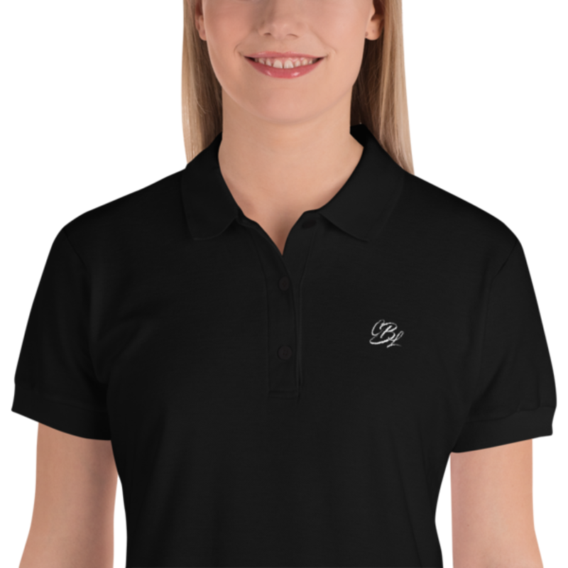 Women's Black Cell Block Legendz Embroidered CBL Logo Premium Polo Shirt (Non-Inmate)