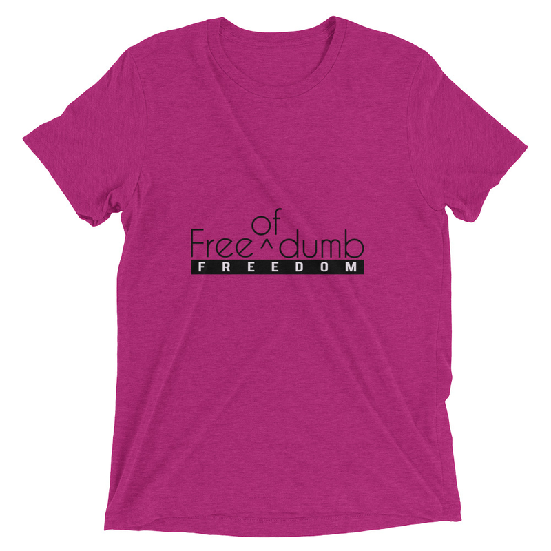 Women's Berry Triblend Cell Block Legendz Free (Of) Dumb Short Sleeve T-Shirt (Non-Inmate)