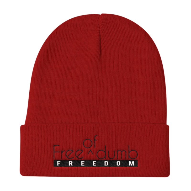 Cell Block Legendz Red Free (Of) Dumb Knit Beanie 12