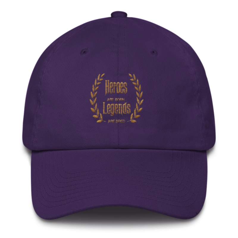 [GOLD COLLECTION] Cell Block Legendz Purple Heroes Are Born - Legends Are Bred Dad Hat (Non-Inmate)