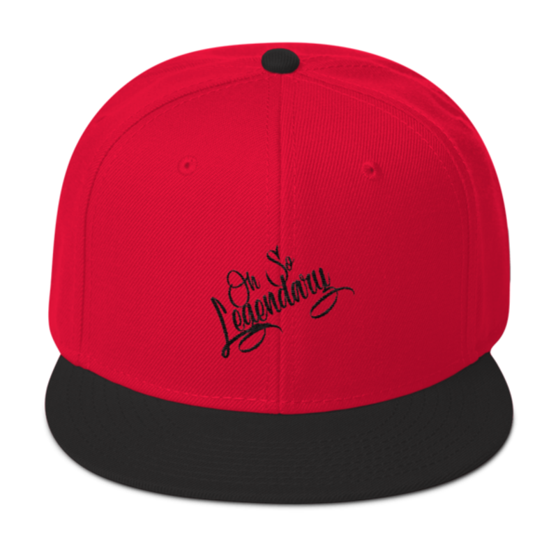Cell Block Legendz Red And Black Oh So Legendary Wool Blend Snapback (Non-Inmate)