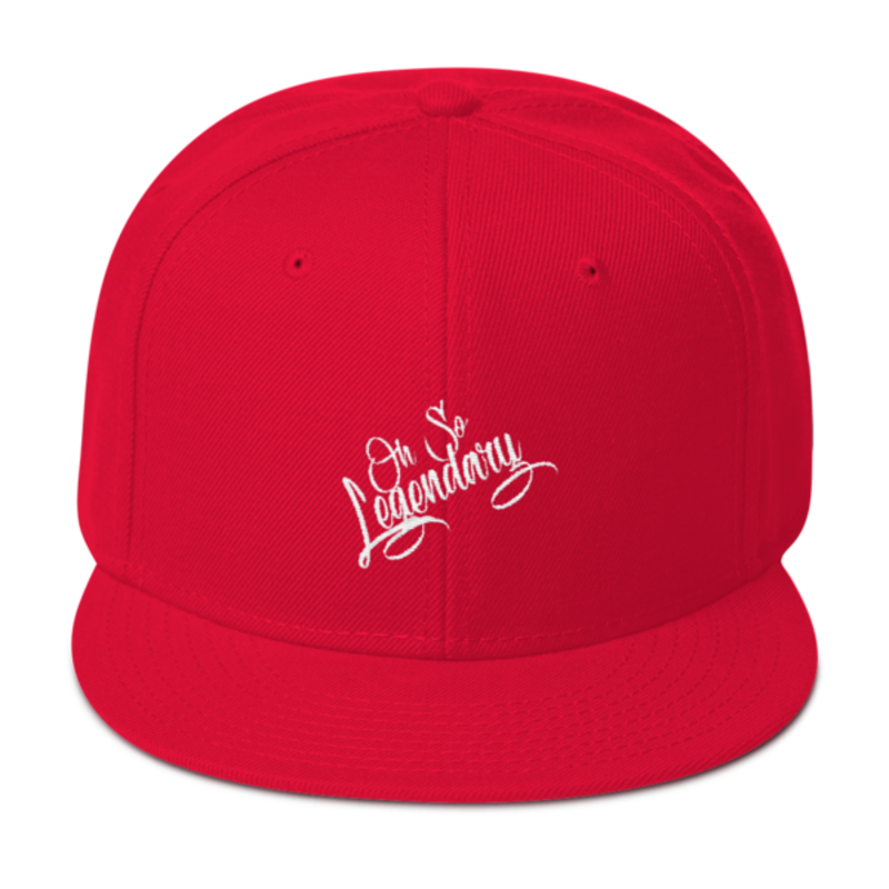 Cell Block Legendz Red Oh So Legendary Wool Blend Snapback (Non-Inmate)