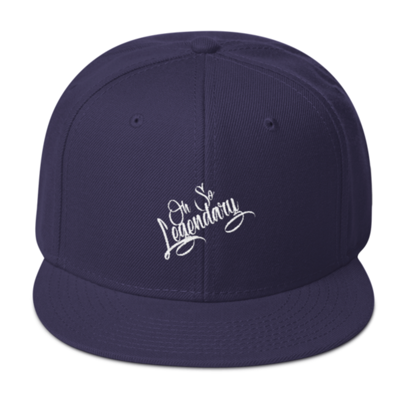 Cell Block Legendz Navy Blue Oh So Legendary Wool Blend Snapback (Non-Inmate)