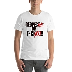 Unisex Cell Block Legendz Respect Me Or F*ck You!!! Short Sleeve Jersey Tee Shirt (Non-Inmate)