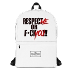 Adult Cell Block Legendz Logo And Respect Me Or F*ck You!!! Backpack