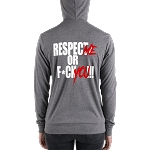 Women's/Unisex Cell Block Legendz Respect Me Or F*ck You!!! Triblend Lightweight Zip Hoodie (Non-Inmate)