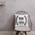 Cell Block Legendz Premium Heroes Are Born - Legends Are Bred Throw Pillow 18x18