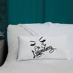 Cell Block Legendz Oh So Legendary Premium Throw Pillow With Brows & Lashes 20x12