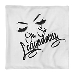 Cell Block Legendz Premium Oh So Legendary Single Pillow Case With Brows & Lashes  18X18