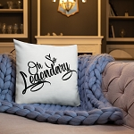 Cell Block Legendz Premium Oh So Legendary Throw Pillow 18x18