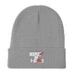 Cell Block Legendz Respect Me Or F*ck You!!! Knit Beanie 12