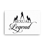 Cell Block Legendz Horizontal 24x36 Sexual Legend With Silhouettes Canvas Wall Decor