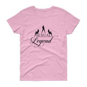 Women's Cell Block Legendz Sexual Legend With Silhouettes Heavy Cotton Short Sleeve T-Shirt  (Non-Inmate)